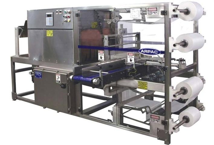 ARPAC's Inline Shrink Bundlers and Rotary Tower Automatic Conveyorized Stretch Wrapper